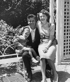 Glenn Ford with his wife Eleanor Powell and son Peter
