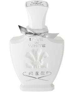 Creed Love In White Note of orange, magnolia, rice, iris, narcissus, jasmine, rose, sandalwood,  vanille, and amber.
