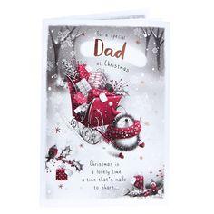 Christmas Card - Special Dad, Hedgehog | Card Factory