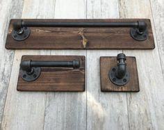 Conjunto rústico Industrial moderno hecho a mano 3 por Lulight