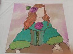 Menina en soie prêt à encadrer. Design unique, Menina pour anniversaire,mariage, nöel, cadeau unique. Menina original de susanasuarez en Etsy #seide #silke #seda #seta #silk #soie #silk #menina #cuadromeninas #cuadrovelazquez #museodelprado