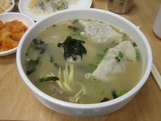 Korean Food_Mandu kuk=dumpling[wonton] soup