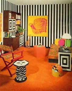 Afbeeldingsresultaat voor pop art interior 60s