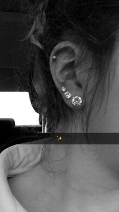 Triple piercing and cartilage