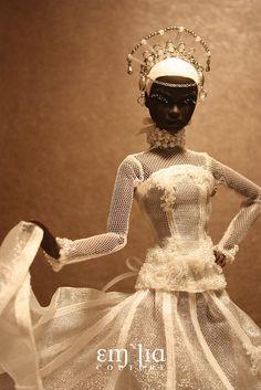 backdrop and pose Barbie Wedding Dress, Wedding Doll, Princess Wedding, Wedding Dresses, High Fashion Makeup, Fantasy Hair, Fantasy Makeup, African American Dolls, Bride Dolls