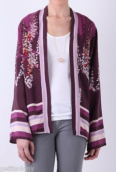 "WINTER KATE by NICOLE RICHIE Purple ""The Opy"" Kimono Jacket"