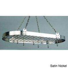 Steel Oval 12-hook Pot Rack | Overstock.com