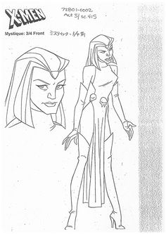 Mystic from X-Men Evolution Character Model Sheet, Man Character, Character Modeling, Comic Character, Character Design Animation, Character Design References, Marvel Films, Marvel Comics, Native Feather Tattoos
