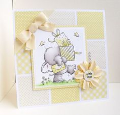 Wild Rose Studio Bella Stamp handmade card - The Stamp Basket