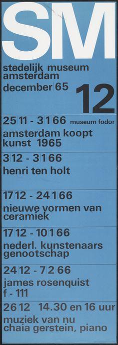 Wim Crouwel - Month Program, Stedelijk Museum Amsterdam, 1965