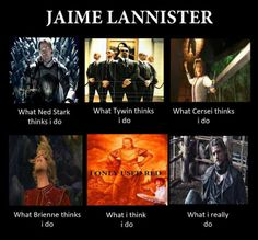 Game of Thrones funny memes - never realized how much Jaime looks like Prince Charming. Jaime Lannister, Valar Dohaeris, Valar Morghulis, Winter Is Here, Winter Is Coming, Got Memes, Funny Memes, Funny Pics, Hilarious