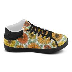 Calendula Shoe. Inspired by the Magic Island of Gotland. Women's Chukka Canvas Shoes (Model 003)