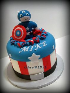Jacob wants a Captain America birthday party :)