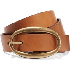 Étoile Isabel Marant Caitlyn leather belt ($110) ❤ liked on Polyvore featuring accessories, belts, brown, real leather belts, leather belt, genuine leather belt, brown leather belt and gold buckle belt