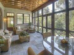 To help outline some of the practicalities, and frankly some eye-popping designs, of screened in porches, here are 8 examples of how a screened in porch can be a defining element to any outdoor living space. Screened Porch Designs, Screened In Porch, Front Verandah, Front Porch, Porch Flooring, Slate Flooring, Flooring Ideas, Outdoor Rooms, Gardens