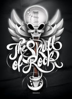 The Skull of Rock! by Marcelo Schultz, via Behance