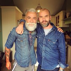 This is how I wanna grow old. Awesome beard, some tats and nice clothing!