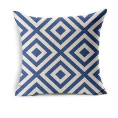 Cotton Linen Simple Geometry Pillow Case Sofa Throw Cushion Cover Home Decor | eBay
