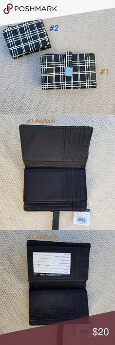NWT Wilsons Leather Addison and Anna Wallet Bundle of 2 Wilsons Leather Wallets: Addison and Anna!  Addison Wallet: -Bifold with additional flap in middle of wallet for extra card storage -Silver hardware and double-buttoned clasp -Total of 25 card slots plus 1 cash pocket -Outside pocket for change  Anna Wallet -Trifold with double-buttoned clasp -7 card slots and 1 large cash pocket -Outside zippered pocket for change Wilsons Leather Bags Wallets