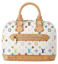 5d0ac540f6 Louis Vuitton Louis Vuitton White Monogram Multicolore Canvas Alma Pm |  Bluefly.Com