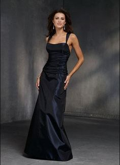 Charming Taffeta Square Double Straps Natural Waist Horizontal Ruffles Bodice A-Line Floor Length Bridesmaid Dresses FBD1140319