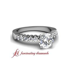 Bella Diamond Engagement Ring Pave Set ($367)
