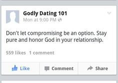 how to honor god while dating