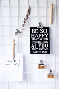 ♥ Love this idea for a mood board - what a great reminder to stay positive and be happy every day!