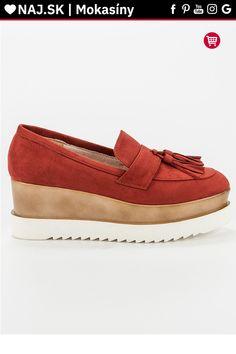 Červené mokasíny na platforme Corina Tommy Hilfiger, Gucci, Platform, Loafers, Shoes, Fashion, Travel Shoes, Moda, Zapatos