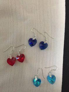 Glass Heart Earring by HartFamilyCreations on Etsy