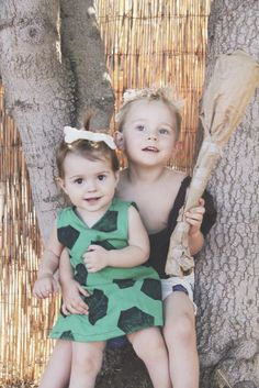 DIY COSTUME: pebbles and bambam   Thrift Town