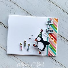 Make A Wish, How To Make, Image Stamp, Kids Cards, Cards Diy, Stamping Up Cards, Animal Cards, Creative Cards, Baby Animals