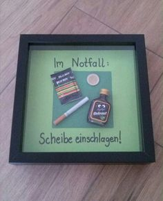 Notfall-Kasten zum Geburtstag! Perfekt für Männer ;) 17th Birthday Gifts, Diy Birthday, Birthday Goals, Birthday Presents, Happy Birthday, Ikea Ribba, Diy Presents, Christmas Presents, Craft Gifts