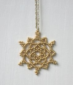 Gold Snowflake Ornament - Stocking Stuffer - Wedding Favor - Teacher Gift by TheCrystalSnowflake, $12.00