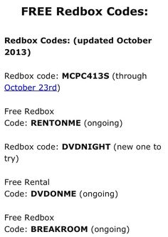 Free Red Box Codes:
