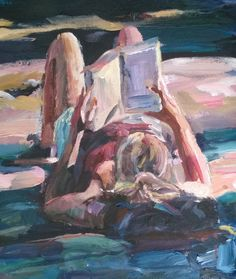 Original Painting, collected artist Samuel Burton woman laid back reading art Reading Art, Woman Reading, Back Read, Book People, Book Art, Original Paintings, Book Stuff, Infinite, Artist