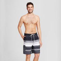 f0effd0479 Men's Faux Board Shorts Stripe - Goodfellow & Co Black M Mens  Boardshorts, White