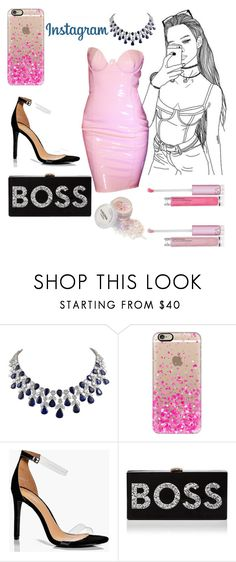 """""""Instagram Boss"""" by mrs305aka ❤ liked on Polyvore featuring Harry Winston, Casetify, Boohoo and Milly"""