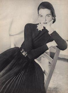 Jacques Fath 1951 Dress Fashion Photography