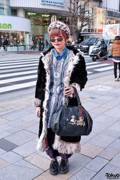 Long Shearling Jacket in Harajuku