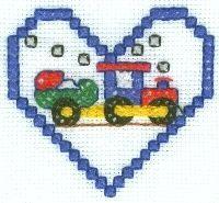 Train cross stitch free pattern