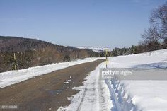 04-22 This photography show one road in winter, with snow aboard... #genolhac: 04-22 This photography show one road in winter,… #genolhac
