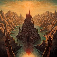 "Dan Seagrave - Rivers of Nihil ""Monarchy"" cover art - 2015"