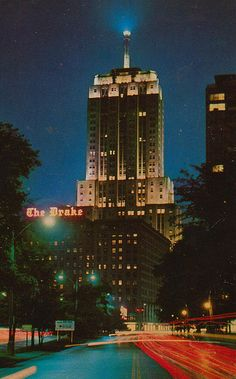 The Drake Hotel, Chicago, IL....with the Palmolive/Playboy building behind it.....