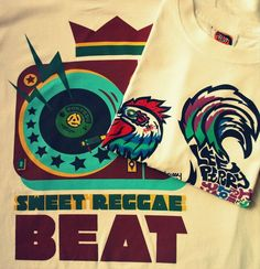 Sweet Reggae Beat and Funky Chicken new designs from Hot Shot Wear http://shop.hotshotwear.net/products_new.ph