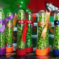 Tubetes criativos! Tema Tartarugas ninjas! ------- Creative Tubes!