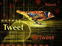 """Be sure to tweet us @mobidigitalart """"Tweet"""" by Susan Murtaugh #iPadPainting"""