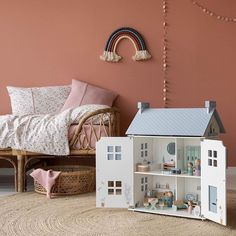 We stock a few dolls houses but if asked for a recommendation this is the one we always recommend - comes with lots of starter furniture,… Wooden Dollhouse, Christmas Toys, Color Azul, Wooden Toys, Playroom, Kids Toys, Baby Kids, Toddler Bed, Dolls