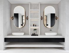 """14.1k Likes, 72 Comments - Design Milk (@designmilk) on Instagram: """"Just found our dream #bathroom #vanity in the Princess Hill Residence designed by…"""""""