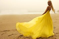 yellow dress Vestido